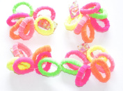 Hair Styling Multi Colour Gentle Terry Hair Bobbles / Elastics Bands