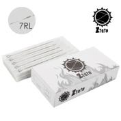 ZTATO 50pcs High Strength Professional Sterilised Stainless Steel Tattoo Needles 7RL