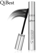 QiBest Eye Mascara Makeup Long Lasting False Eyelash Silicone Brush Curving Lengthening Thick Rimel Colossal Waterproof Mascara