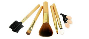 CINEEN 5pcs Sets Golden Makeup Brushes Including Blusher Brush with Three Replaceable Sponges