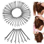 Cuhair 60Pcs wedding Hair Clips for Women Ladies Bobby Pins Invisible Curly Wavy Grips Salon Barrette Hairpin Hair Accessories