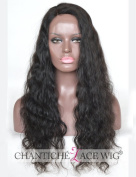 Chantiche 9.5cm Deep Parting Silk Base Human Hair Lace Front Wigs for Black Women Relastic Looking Invisible Right Part Natural Wave Glueless Brazilian Remy Hair Lace Wig 150% Density 60cm #1B