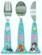 PAW Patrol 'Best Pup Pals' Girls 3 Piece Cutlery Set | Knife, Fork and Spoon