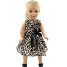 Leopard Dress Clothes for 46cm American Girl Doll