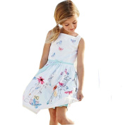 Internet Kids Girls Strap Clothing Floral Butterfly Print Princess Dress