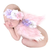 Tonsee Feather Angel Fairy Wings Newborn Baby Girls Boys Costume Photo Props Outfit with Headband