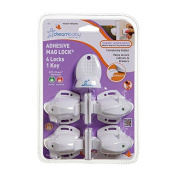Dreambaby Adhesive Mag Lock 4 Locks and 1 Key