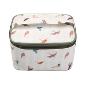 TaylorHe Waterproof Large Make-up Bag Cosmetic Case Toiletry Bag Vanity Case with Patterns zipped with Handle Birds