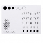 JACKY Nail Art Silicone Workspace Stamping Plate Washable Mat Table