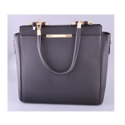 Ladies Over Sized Tote Bags Women's Fashion Designer Metal Detail Colour Block Shoulder Handbags