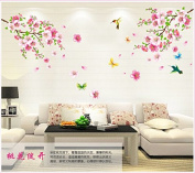 WallPicture Art-Pink Plum Blossom Flower & Bird Decal Mural Art Wall Sticker For Home Room Decoration TXK-A10.4l by Wall Sticker