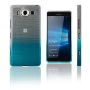 Xcessor Transition Colour Flexible TPU Case for Microsoft Lumia 950. With Gradient Silk Thread Texture. Transparent / Light Blue
