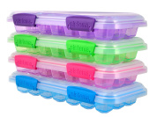 """Sistema """"KLIP IT"""" Accents Ice Cube Tray with Lid, Plastic, Multi-Colour"""