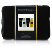 Baylis and Harding Gift for Him Men's Black Pepper and Ginseng Wash Bag Gift Set, 608 Gramme