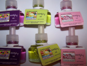 6 Yankee Candle Scent Plug Refills- Summer Scoop, Jelly Beans & Margarita Time