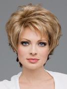 UPTOP Hair ®women's short curly Blonde Hair Wigs As Real Hair wig