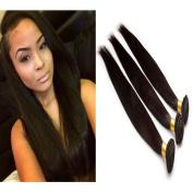 6A Brazilian Remy Human Hair Extension Straight Human Hair, Mixed Length(41cm 46cm 50cm ), 50g/Bundle, Natural Colour
