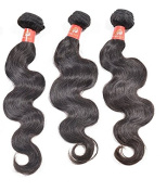 Wendy Hair Peruvian Body Wave Unprocessed Human Hair Extensions, Pack of Three, Black, 18 20 22