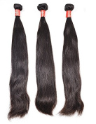 Wendy Hair Peruvian Straight Unprocessed Human Hair Extensions, Pack of Three, Black, 18 20 22