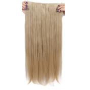 Real Soft Hair 70cm Straight Ash Blonde Hairpiece 3/4 Full Head One Piece 5 Clips Clip In Hair Extension Extensions