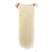 Real Soft Hair 70cm Straight Bleach Blonde Hairpiece 3/4 Full Head One Piece 5 Clips Clip In Hair Extension Extensions