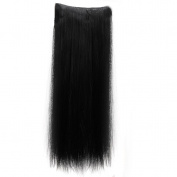 Real Soft Hair 70cm Straight Dark Black Hairpiece 3/4 Full Head One Piece 5 Clips Clip In Hair Extension Extensions
