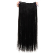 Real Soft Hair 70cm Straight Natural Black Hairpiece 3/4 Full Head One Piece 5 Clips Clip In Hair Extension Extensions