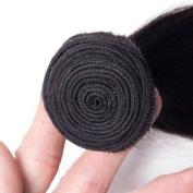 Richair 15cm 1Pcs Virgin Brazilian Body Wave Hair Extension 6A 100% Unprocessed Human Hair Weave Nature Black 300g