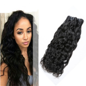 Ms Mary Hair Water Wave Human Hair Mixed Length 50cm 50cm 60cm 100 Unprocessed Human Hair Bundles Malaysian Virgin Hair 3 Bundles 6a Grade Unprocessed Hair Bundle 1B Natural Colour Hair