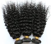 YAMI Brazilian Virgin Hair 7A Unprocessed Brazilian Curly Virgin Hair Wavy Virgin Brazilian Hair Weave 3 Bundles Jerry Curl Natural Colour Lace Closure Top Closure
