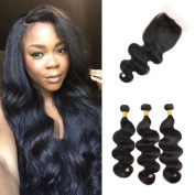 8A Unprocessed Malaysian Virgin Hair Body Wave 4Pcs Mixed 121% Unprocessed Virgin Remy Human Hair Weave Extension Malaysian body wave Bundles Natural Black 24 24 24 50cm