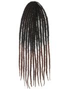 Stepupgirl 60cm Black to Dark Brown Colour Afrika Amerika Crochet Small Dirty Carney Karen Braid Box Hair