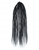 Stepupgirl 60cm Pure Black Colour Afrika Amerika Crochet Small Dirty Carney Karen Braid Box Hair