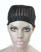 V'Nice® 1 Pcs Per Lot Cornrows Cap for Easier Sew In,Braided Wig Caps Crotchet Black Colour Spider Braiding Wig Cap with Elastic Lace