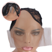 Wig Mall Wig Cap U Parting Weave Cap Ultra Stretchy Nets Black Large