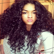 Natural Black Colour Unprocessed Brazilian Virgin Hair Curly Full Lace Human Hair Wigs for Black Women130% Density Glueless Lace Wig