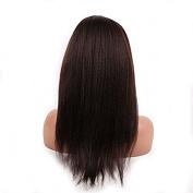 Kinky Straight Virgin Brazilian Hair Glueless Full Lace Human Hair Wig 20cm - 70cm 130 Density for Black Women #2 Colour