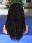 Unprocessed 100% Brazilian Human Hair Natural Colour Small Spiral Curly Full Lace Wigs For African American Women