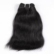 Wigsroyal 2 Bundles Indian Remy Hair 25cm ,120ml/Bundle,Natural Straight Jet Black Colour