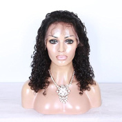 100% Unprocessed Brazilian Curly Virgin Hair Glueless Human Hair Wigs Lace Front Wigs Natural Colour