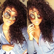 Unprocessed Natural Black Colour 130% Density Virgin Hair Wigs Kinky Curly Brazilian Full Lace Wigs For Black Women