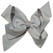 Chicky Chicky Bling Bling Girls Jumbo Layered Dance Hair Bow shell grey silver