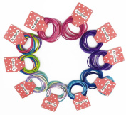 yueton Pack of 100 Cute Kids Girl Elastic Band Hair Tie hair Rope Ponytail Holder Hair Accesorries