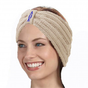 KYS Alpha Omega Epsilon Sorority Cable Knit Bow Headband