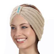 KYS Zeta Tau Alpha Sorority Cable Knit Bow Headband
