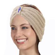 KYS Delta Gamma Sorority Cable Knit Bow Headband