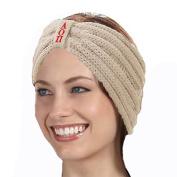 KYS Alpha Omicron Pi Sorority Cable Knit Bow Headband