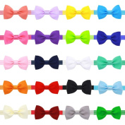 God's Hand 20 Colours Stretchy Elastic Hair Headbands Clips Hair Bows Barrattes for Baby Girls Kids Children Toddles