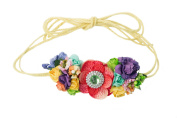 Mini Floral Headband Bohemian Style Formal Head Wear Garland One Size Fits All