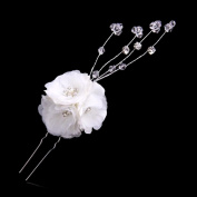 Exquisite Selebrity Wedding Bridal Rhinestone and Pearl Flower Headpieces
